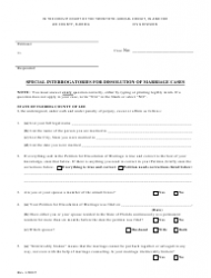 Special Interrogatories for Dissolution of Marriage Cases - Lee County, Florida