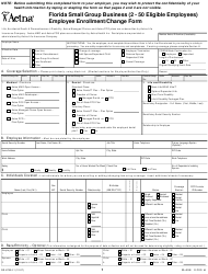 "Form GR-67834-1 ""Enrollment/Change Form - Aetna"" - Florida"