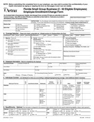 Form GR-67834-1 Enrollment/Change Form - Aetna - Florida