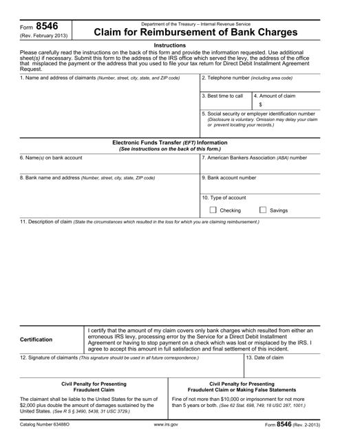 IRS Form 8546 Printable Pdf