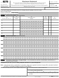 "IRS Form 8275 ""Disclosure Statement"""