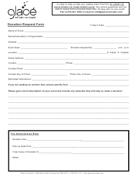 Donation Request Form - Glace