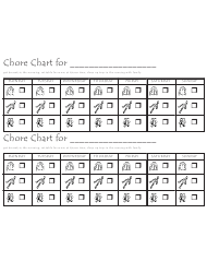 Weekly Chore Chart for Children
