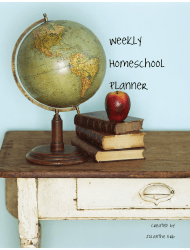 Sample Weekly Homeschool Planner
