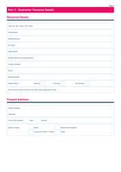 """Guarantor Application Form - Mcdonald Property Rentals"" - United Kingdom, Page 2"