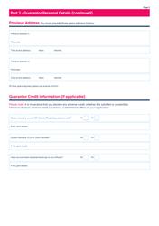 """Guarantor Application Form - Mcdonald Property Rentals"" - United Kingdom, Page 3"