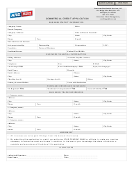Commercial Credit Application Form - American Residential Services