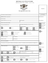 Cote D'ivoire Short-stay Visa Application Form - India