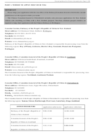 Form V 2013 Chinese Visa Application Form - Embassy of the People's Republic of China - Wellington New Zealand