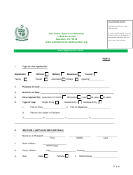 """Form P2-6 """"Pakistan Visa Application Form - Consulate General of Pakistan"""" - City of Houston, Texas, Page 2"""