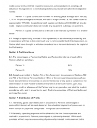 """Sample Partnership Agreement Template"", Page 2"
