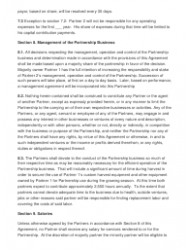 """Sample Partnership Agreement Template"", Page 3"