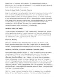 """Sample Partnership Agreement Template"", Page 4"