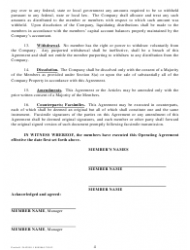 """""""Sample Operating Agreement Template"""" - City of Portland, Oregon, Page 4"""