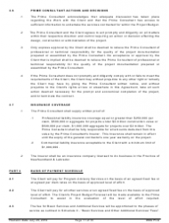 """Standard Form of Agreement Between Client and Prime Consultant"", Page 11"