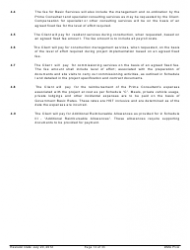"""Standard Form of Agreement Between Client and Prime Consultant"", Page 12"