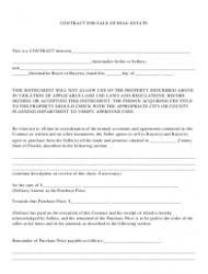 """Real Estate Sale Contract Template"" - Florida"