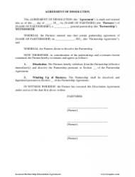 General Partnership Agreement of Dissolution Template - Leaplaw, Page 2