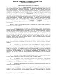 """""""Master Landlord's Consent to Sublease Form"""", Page 3"""