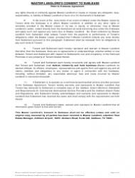 """""""Master Landlord's Consent to Sublease Form"""", Page 4"""