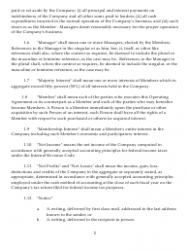 """Sample Xyz Limited Liability Company Operating Agreement"", Page 2"