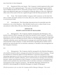 """Sample Xyz Limited Liability Company Operating Agreement"", Page 4"