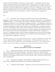 """Sample Xyz Limited Liability Company Operating Agreement"", Page 9"