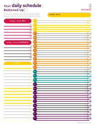 """""""Daily Schedule Template - Buttoned up"""""""