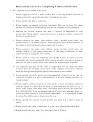 Commercial Invoice Template, Page 2