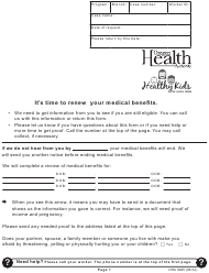"""Medical Benefits Renewal Form"" - Oregon"