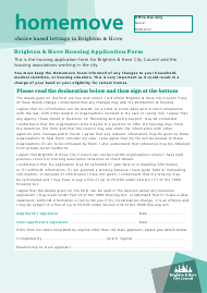 """Housing Application Form"" - City of Brighton and Hove, West Sussex, United Kingdom"