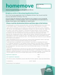 Housing Application Form - City of Brighton and Hove, West Sussex