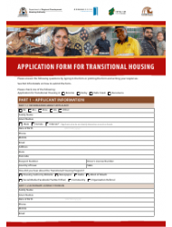 Application Form for Transitional Housing - Western Australia