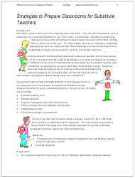 Substitute Teacher Feedback Report Form - Effective Interventions for Academic Problems