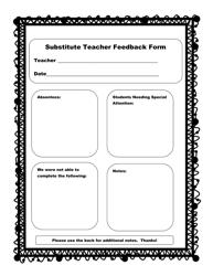 """Substitute Teacher Feedback Form"""