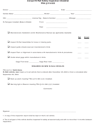 Annual Hi-Rail Safety Inspection Checklist Template