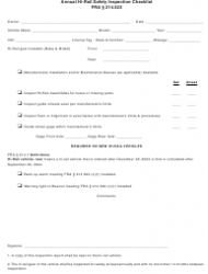 Annual Hi Rail Safety Inspection Checklist Template