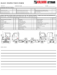 """Daily Inspection Form - Kalmar Ottawa"" - Canada"