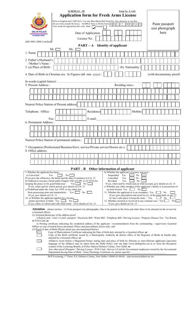 Form F-A-01 Printable Pdf