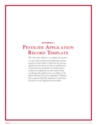 pesticide application record template download printable. Black Bedroom Furniture Sets. Home Design Ideas