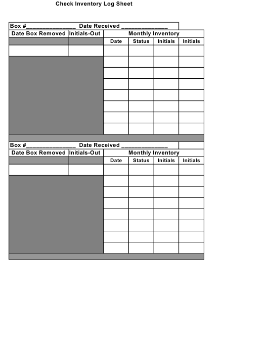 Inventory Log Template from data.templateroller.com