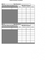 check inventory log sheet template download printable pdf