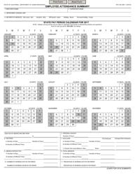 Form STD.640 Employee Attendance Summary - California