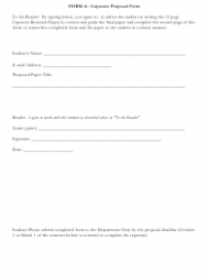 Capstone Proposal Form