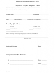 Capstone Project Form - Bloomsburg University Department of Music, Page 3