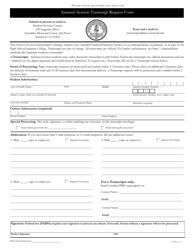 Summer Session Transcript Request Form - Leland Stanford Junior University - California