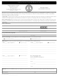 """Summer Session Transcript Request Form - Leland Stanford Junior University"" - California"