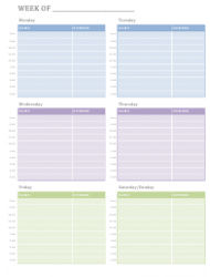 Weekly Appointment Schedule Spreadsheet Template
