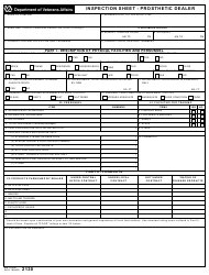 VA Form 2130  Fillable Pdf