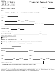 Transcript Request Form - Georgia College - Georgia (United States)